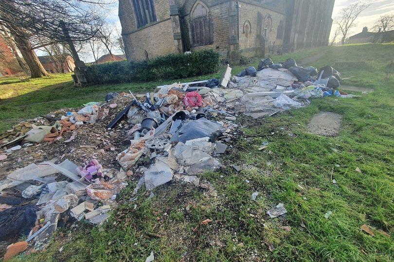 0_Waste-found-on-St-Johns-Evanglist-Church-Salford