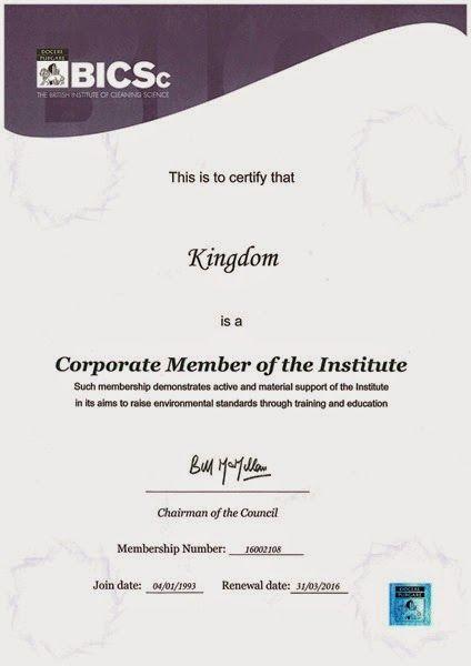Kingdom BICSc Certificate 2015