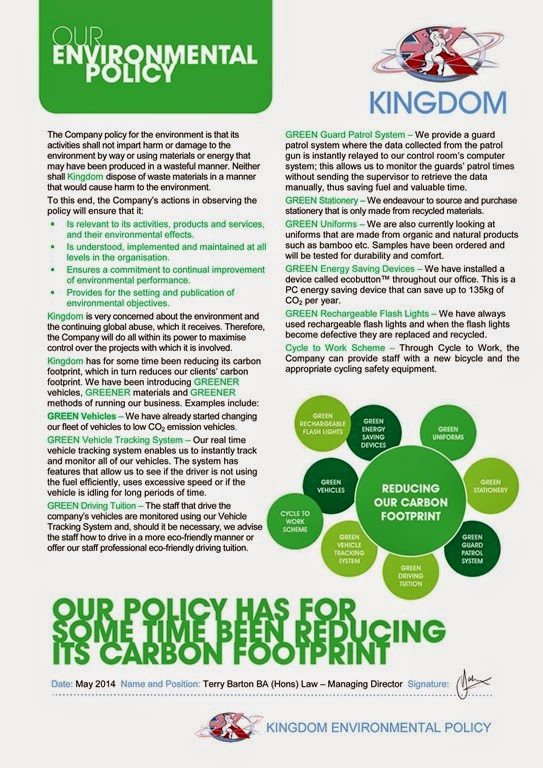 Kingdom Environmental Policy 2014