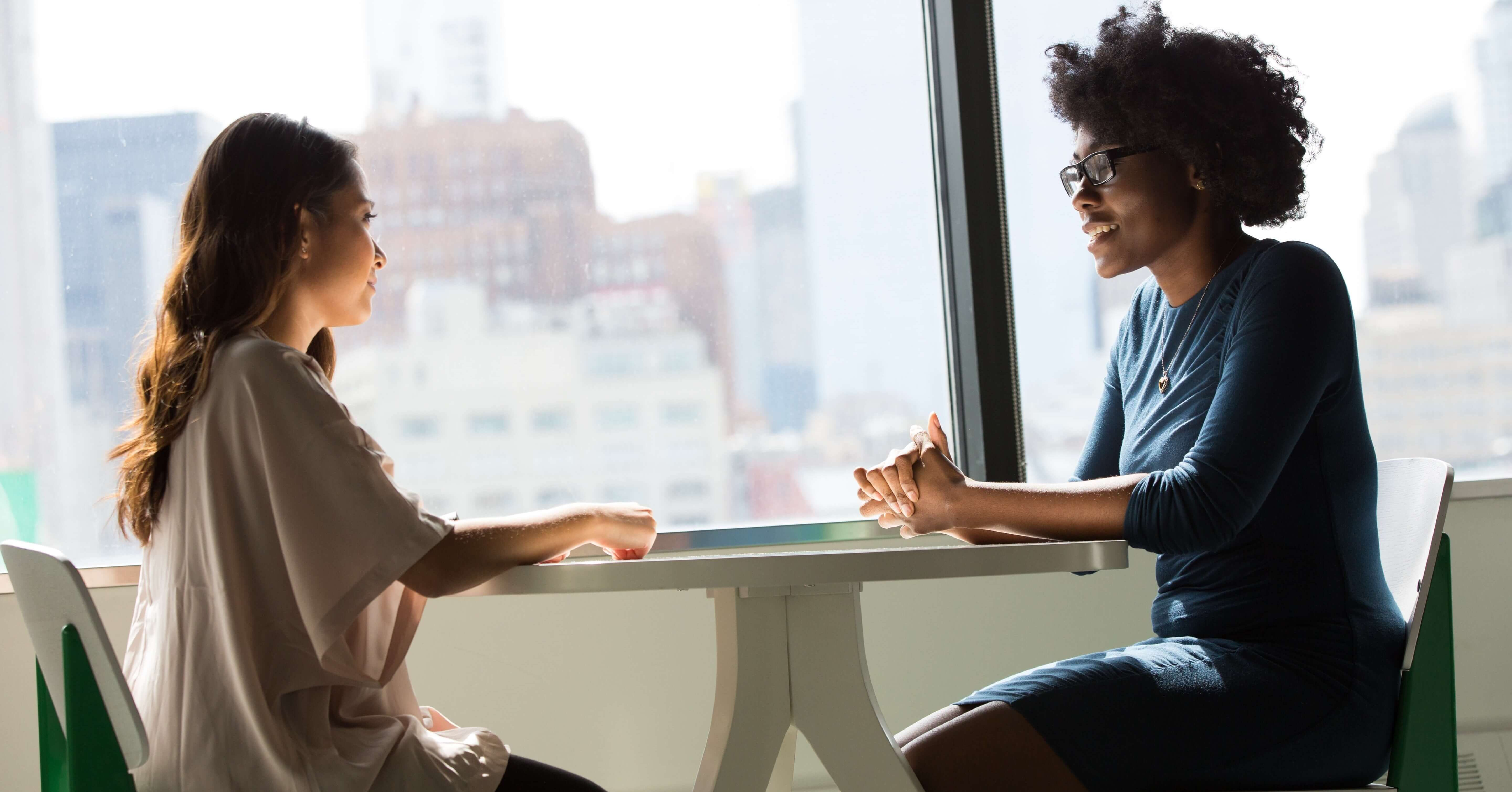 two people having an interview